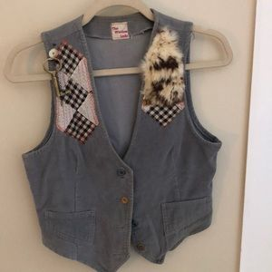 Adorable embellished vintage vest